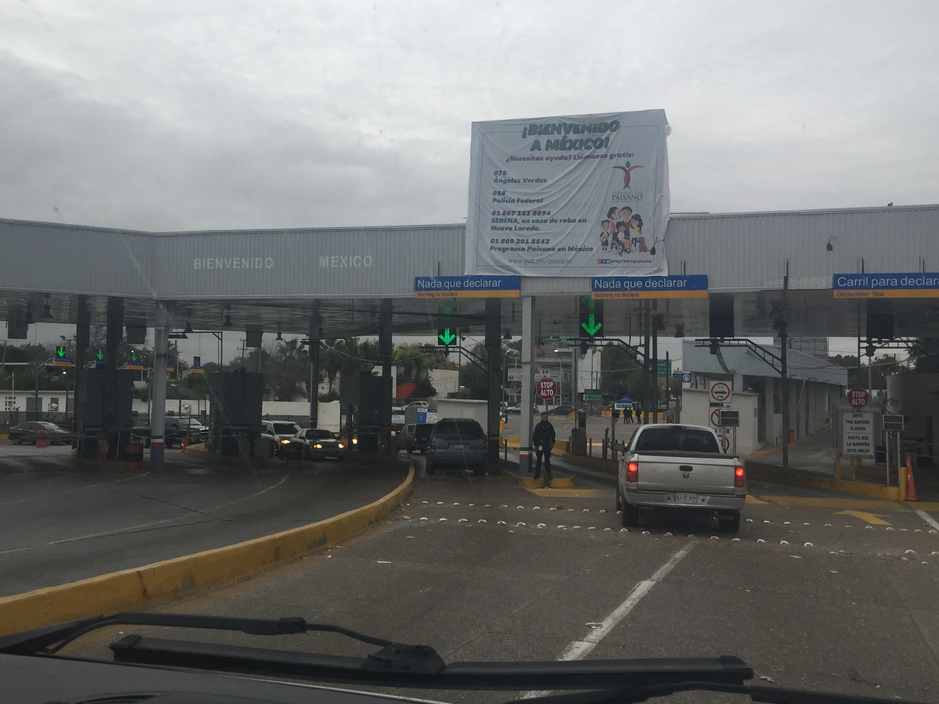 Mexico Border Crossing, all that anxiety just for a good